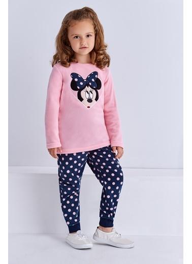 Mickey Mouse Mickey & Minnie Mouse Lisanslı Kız Çocuk Polar Takım Pembe Pembe